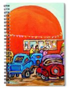 Montreal Art Orange Julep Paintings Montreal Summer City Scenes Carole Spandau Spiral Notebook