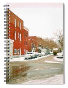 Montreal Art Winter Street Scene Painting The Point Psc Rowhouses In January Snow Cspandau Spiral Notebook