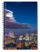 Montreal By Night Spiral Notebook