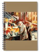 Montreal Market Scene Marche Atwater Spiral Notebook