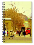 Montreal Memories Mcgill Students On Campus Roddick Gates Montreal Collectible Art Prints C Spandau Spiral Notebook
