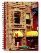 Montreal Memories Restaurant Chez Orphee 362 Fairmount Cb Spandau Montreal Premier City Scene Artist Spiral Notebook