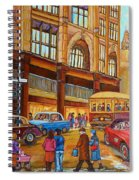 Montreal Memories-streetcars-morgan's Department Store At St.catherine And Union Spiral Notebook