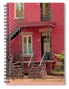 Montreal Memories The Old Neighborhood Timeless Triplex With Spiral Staircase City Scene C Spandau  Spiral Notebook