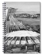 Montreal Olympic Stadium And Olympic Park-home To Biodome And Velodrome-montreal In Black And White Spiral Notebook