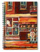 Montreal Street Scene Paintings Spiral Notebook