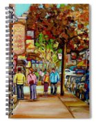Montreal Streetscenes By Cityscene Artist Carole Spandau Over 500 Montreal Canvas Prints To Choose  Spiral Notebook