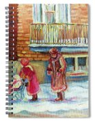 Montreal Winter Scenes Spiral Notebook