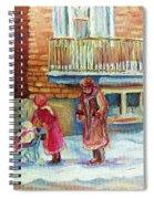 Montreal Winter Scenes Spiral Notebook