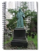 Monument John Watts Trinity Churchyard New York Spiral Notebook