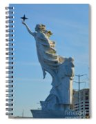 Monument To The Immigrants Statue 2 Spiral Notebook