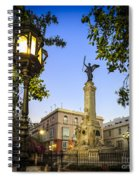 Monument To The Marquis Of Comillas Cadiz Spain Spiral Notebook