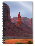 Monument Valley At Sunset Panoramic Spiral Notebook