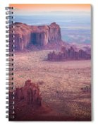 Monument Valley From Hunts Mesa Spiral Notebook