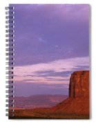 Monument Valley Red Rock Formations At Sunrise Spiral Notebook