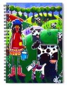 Moo Cow Farm Spiral Notebook