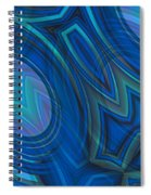 Mood In Blues Spiral Notebook