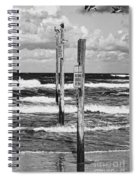 Moody Beach Day Spiral Notebook