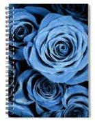 Moody Blue Rose Bouquet Spiral Notebook