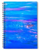 Moody Blues Abstract Spiral Notebook