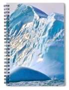 Moody Blues Iceberg Closeup In Saint Anthony Bay-newfoundland-canada Spiral Notebook