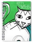 Moody Cat- Pop Art Spiral Notebook