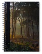 Moody Forest Happy Sun Spiral Notebook