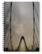 Moon And A Bridge Spiral Notebook