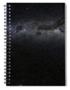 Moon And Galaxy. Spiral Notebook