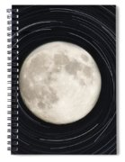 Moon And Startrails Spiral Notebook