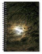 Moon Light With Clouds Spiral Notebook