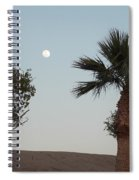 Moon Over Baja Desert Spiral Notebook