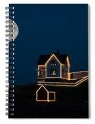 Moon Over Cape Neddick Spiral Notebook