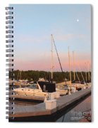 Moon Over Egg Harbor Marina Spiral Notebook