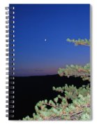 Moon Over Mountain Spiral Notebook