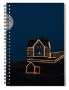 Moon Over Nubble Light Spiral Notebook