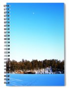 Moon Over The Lake Spiral Notebook