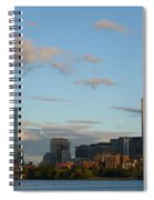 Moon Over The Prudential In Boston Spiral Notebook