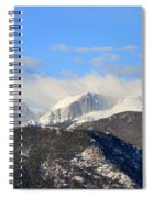 Moon Over The Rockies - Panorama Spiral Notebook