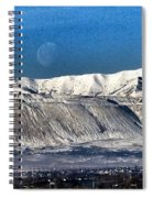Moon Over The Snow Covered Mountains Spiral Notebook