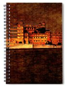 Moon Over Udaipur Painted Version Spiral Notebook