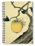 Moon Persimmon And Grasshopper Spiral Notebook