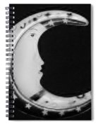 Moon Phase In Black And White Spiral Notebook