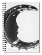 Moon Phase In Negative Spiral Notebook