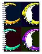 Moon Phase In Pf Quad Colors Spiral Notebook
