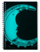 Moon Phase In Turquois Spiral Notebook