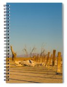Moon Rise Over Waste Land Spiral Notebook