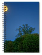 Moon Rising At The Lake House 05/24/13 Oakland County Mi Spiral Notebook