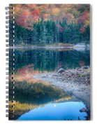 Moon Setting Fall Foliage Reflection Spiral Notebook
