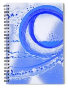 Moon Surfing 1 By Jrr Spiral Notebook